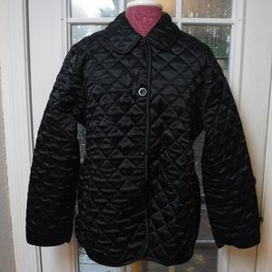 Michael Simon Beads on Black Quilted Jacket~Great~